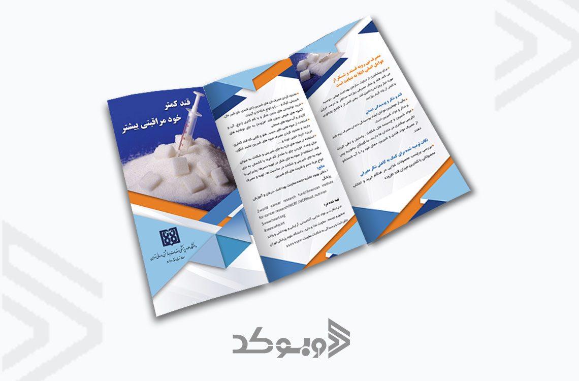 طراحی بروشور معاونت غذا و دارو 4