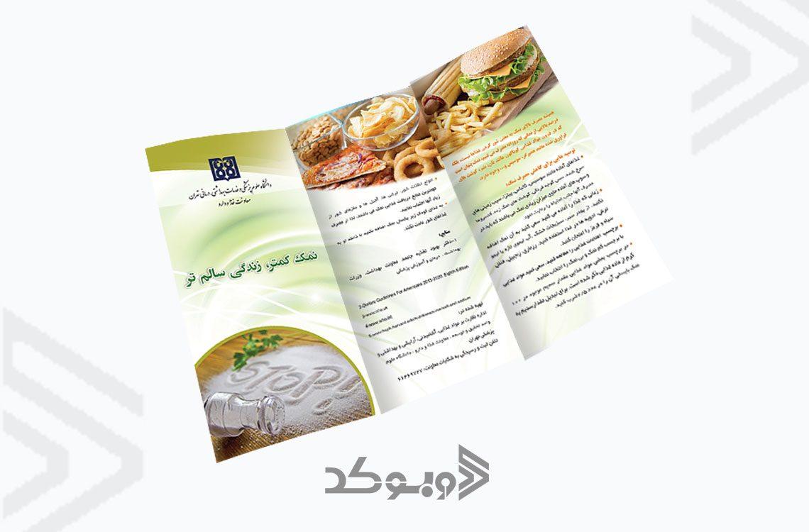 طراحی بروشور معاونت غذا و دارو 2